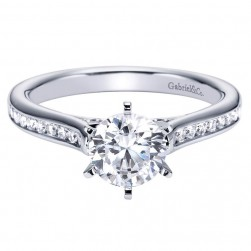 Gabriel 14 Karat Contemporary Engagement Ring ER6665W44JJ
