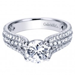 Gabriel 14 Karat Contemporary Engagement Ring ER7787W44JJ