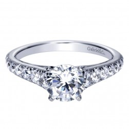 Gabriel 14 Karat Contemporary Engagement Ring ER8259W44JJ
