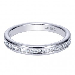 Gabriel 14 Karat Contemporary Wedding Band WB8958W44JJ