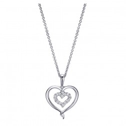 Gabriel Fashion Silver Eternal Love Heart Necklace NK4084SV5JJ