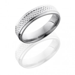 Lashbrook 6FGETIGHTWeave Polish Titanium Wedding Ring or Band