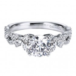 Gabriel 14 Karat Contemporary Engagement Ring ER5329W44JJ