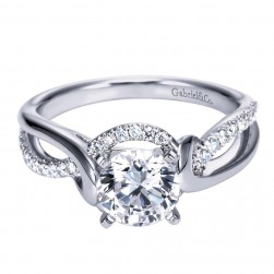 Gabriel 14 Karat Contemporary Engagement Ring ER7801W44JJ
