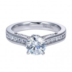 Gabriel 14 Karat Contemporary Engagement Ring ER7912W44JJ
