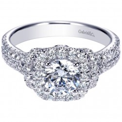 Gabriel 14 Karat Contemporary Engagement Ring ER8982W44JJ