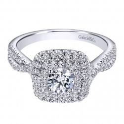 Gabriel 14 Karat Contemporary Engagement Ring ER910139W44JJ