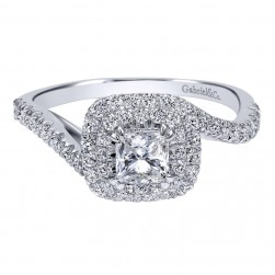 Gabriel 14 Karat Contemporary Engagement Ring ER911775S0W44JJ