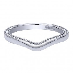 Gabriel 14 Karat Contemporary Wedding Band WB10915W4JJJ