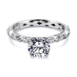 Tacori Hand Engraved Platinum Engagement Ring HT2378