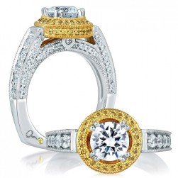 A.JAFFE 18 Karat Signature Engagement Ring MES598