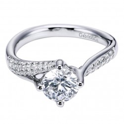 Gabriel 14 Karat Contemporary Engagement Ring ER6359W44JJ