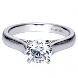 Gabriel 14 Karat Contemporary Engagement Ring ER8294W4JJJ