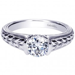 Gabriel 14 Karat Contemporary Engagement Ring ER8820W44JJ