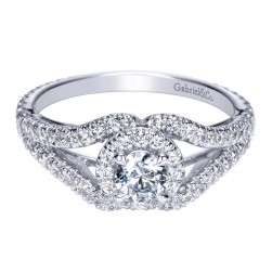 Gabriel 14 Karat Contemporary Engagement Ring ER98506W44JJ