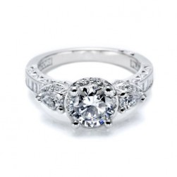 Tacori Crescent Platinum Engagement Ring HT2533SM12X