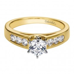 Gabriel 14 Karat Contemporary Engagement Ring ER2352M43JJ