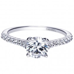 Gabriel 14 Karat Contemporary Engagement Ring ER7983W44JJ