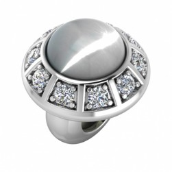 JLo Collection Endless Jewelry White Moon Galaxy Sterling Silver Charm 3200-2