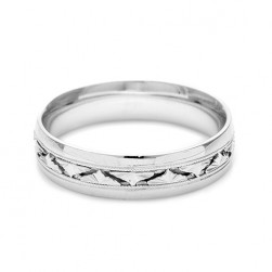 Tacori Platinum Hand Engraved Wedding Band HT2400