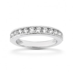 Diamond Channel Set Band 18 Karat Taryn Collection TQD B-1525