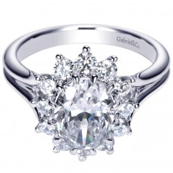 Gabriel 14 Karat Contemporary Engagement Ring ER9076W44JJ