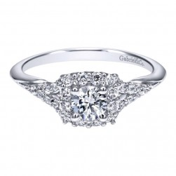 Gabriel 14 Karat Contemporary Engagement Ring ER911786R0W44JJ