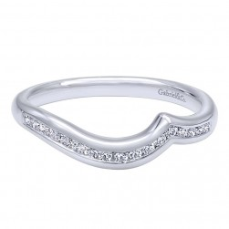 Gabriel 14 Karat Contemporary Wedding Band WB10437W44JJ