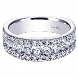 Gabriel 14 Karat Contemporary Wedding Band WB4254W44JJ