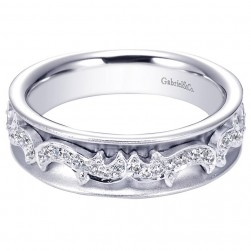 Gabriel 14 Karat Contemporary Wedding Band WB5525W44JJ