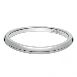 Gabriel 14 Karat Contemporary Wedding Band WB8484W4JJJ
