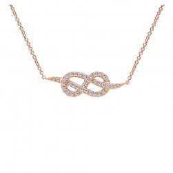 Gabriel Fashion 14 Karat Eternal Love Necklace NK4206K45JJ