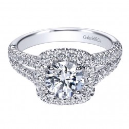 Gabriel 14 Karat Contemporary Engagement Ring ER10252W44JJ