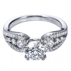 Gabriel 14 Karat Contemporary Engagement Ring ER6388W44JJ