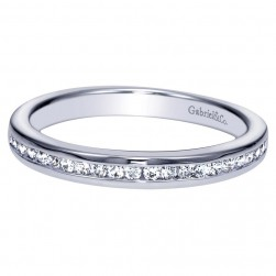 Gabriel 14 Karat Contemporary Wedding Band WB8677W44JJ