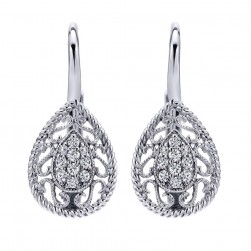 Gabriel Fashion 14 Karat Lace Leverback Earrings EG12488W45JJ