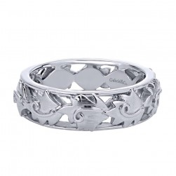 Gabriel Fashion Silver Stackable Stackable Ladies' Ring LR5876-7SVJJJ