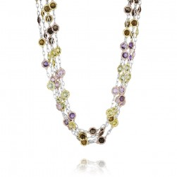 SN115YP19 Tacori 18k925 Necklace Silver & Gold