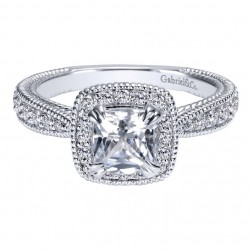 Gabriel 14 Karat Contemporary Engagement Ring ER10501W44JJ