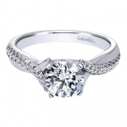 Gabriel 14 Karat Contemporary Engagement Ring ER10951W44JJ