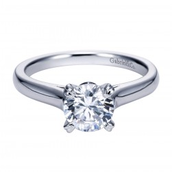 Gabriel Platinum Contemporary Engagement Ring ER8073PTJJJ