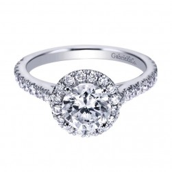 Gabriel 14 Karat Contemporary Engagement Ring ER7259W44JJ