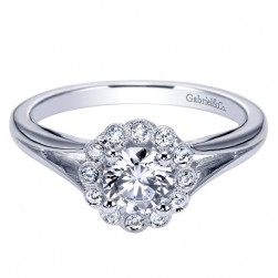 Gabriel 14 Karat Contemporary Engagement Ring ER8205W44JJ