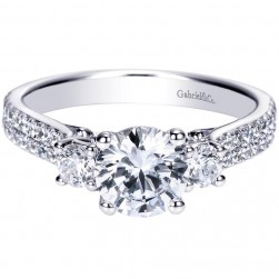 Gabriel 14 Karat Contemporary Engagement Ring ER8973W44JJ