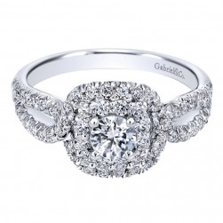 Gabriel 14 Karat Contemporary Engagement Ring ER910157W44JJ