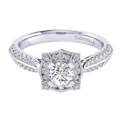 Gabriel 14 Karat Perfect Match Engagement Ring ER002A2ADW44JJ
