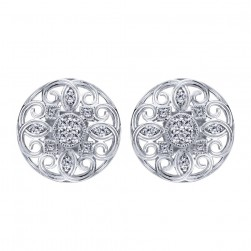 Gabriel Fashion 14 Karat Lace Stud Earrings EG12302W45JJ