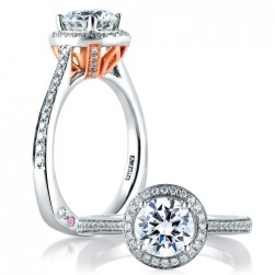 A.JAFFE 14 Karat Signature Engagement Ring MES596