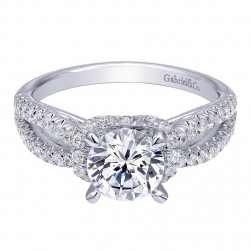 Gabriel 14 Karat Contemporary Engagement Ring ER10752W44JJ