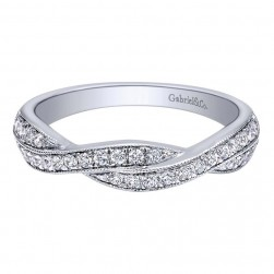 Gabriel 14 Karat Contemporary Wedding Band WB10747W44JJ